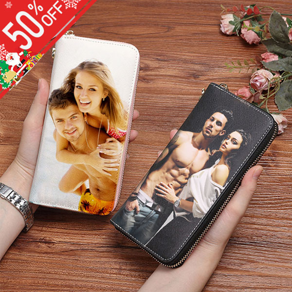 Double-Sided Photo Genuine Leather Wallet